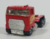 1993 Hot Wheels Ford Stake Bed Truck Red Die Cast Toy Car Vehicle Semi Rig Tractor
