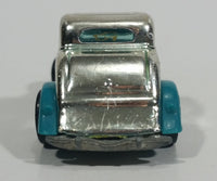 1995 Hot Wheels Speed Gleamer 3-Window '34 Turquoise Blue Chrome Die Cast Toy Car Hot Rod Vehicle - Treasure Valley Antiques & Collectibles