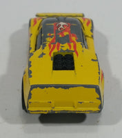 1985 Hot Wheels Crack-Ups Exotic (side crash) Side Banger Yellow Die Cast Toy Muscle Car Vehicle Hong Kong - Treasure Valley Antiques & Collectibles