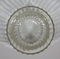 "1986 FTDA Candy Sweets Fluted Scalloped Clear Glass 3 1/2"" Tall Dish - Treasure Valley Antiques & Collectibles"