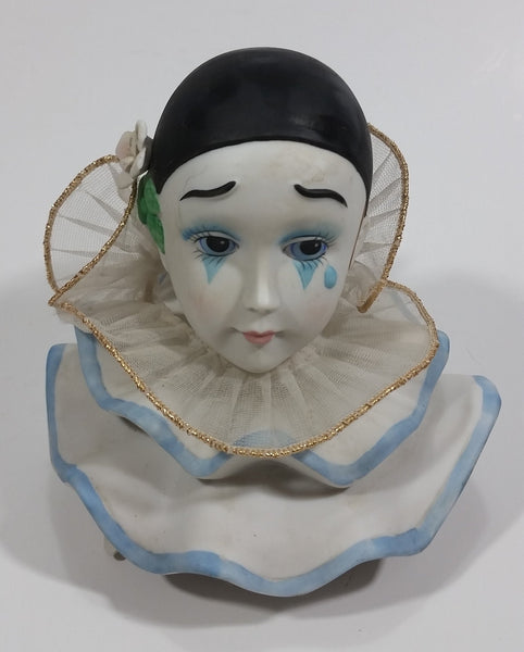 1988 EHW Enterprises The Entertainers Porcelain Head Music Box - 9109 - Willitts Designs - Made in Taiwan - Treasure Valley Antiques & Collectibles