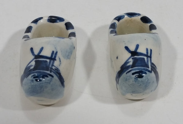 Vintage Delft Blue Hand Painted Windmill Shoe Set - Treasure Valley Antiques & Collectibles