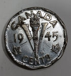 1945 Canada 5 Cents George VI Victory Canadian Nickel Coin - Treasure Valley Antiques & Collectibles