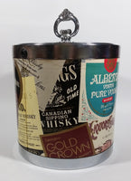 Vintage Alberta Canada Canadian Whisky Vodka, Brandy Liquor Advertising Ice Bucket Pail with Lid - Treasure Valley Antiques & Collectibles