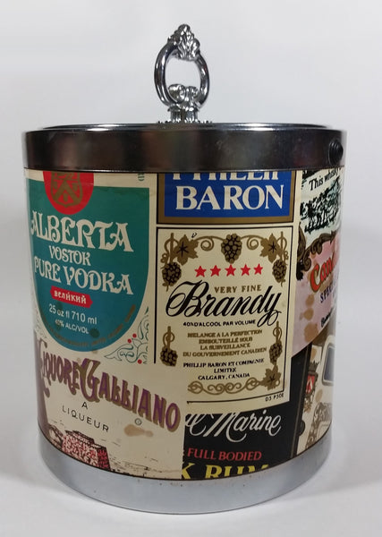Vintage Alberta Canada Canadian Whisky Vodka, Brandy Liquor Advertising Ice Bucket Pail with Lid