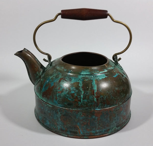Vintage Revere Ware Rome, New York Copper Tea Kettle with Wooden Handle - No Lid - Treasure Valley Antiques & Collectibles