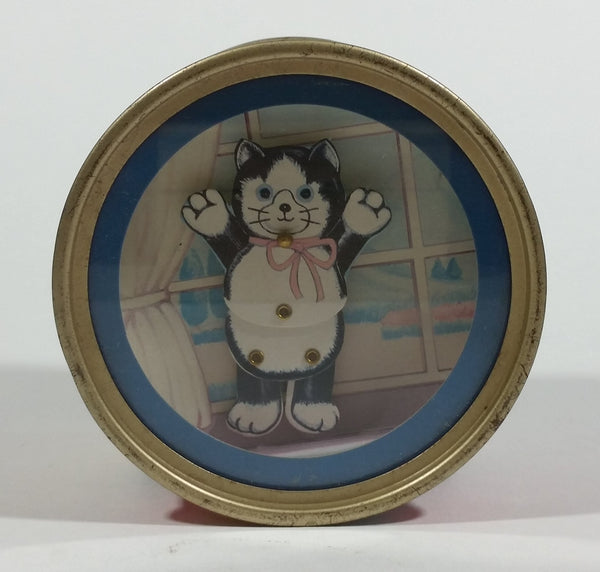 Rare Vintage Otagiri Flash Dance Music Box Black and White Cat Wind Up Dancing Collectible - Working