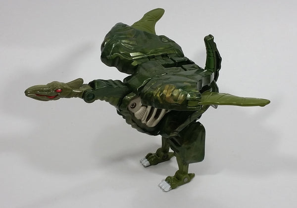 Vintage 1985 Bandai Tonka GoBots Rock Lords Terra-Roc Rockasaurs Monstrous Green Transformer Action Figure Boulder Toy