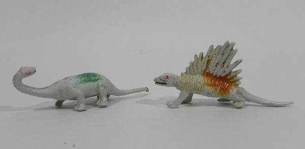 Vintage 1970s Permian Age Dinosaur PVC Toy Figures 2 Pieces - Made in Hong Kong - Treasure Valley Antiques & Collectibles