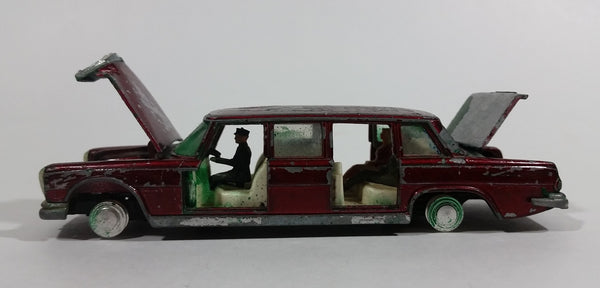 1950s Dinky Toys Meccano Mercedes-Benz 600 No. 128 Red Limo Limousine Die Cast Toy Car Vehicle - For Parts - Treasure Valley Antiques & Collectibles
