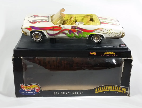 1999 Hot Wheels Lowriders 1965 Chevy Impala Convertible 1:18 Scale Die Cast Model Classic Muscle Car with Box - Treasure Valley Antiques & Collectibles
