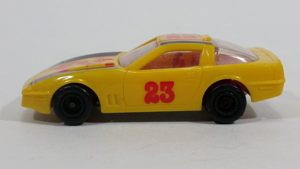 Rare Majorette Novacar No. 103 Chevrolet Corvette Grand Prix #23 Yellow Die Cast Plastic Body Toy Race Car Vehicle