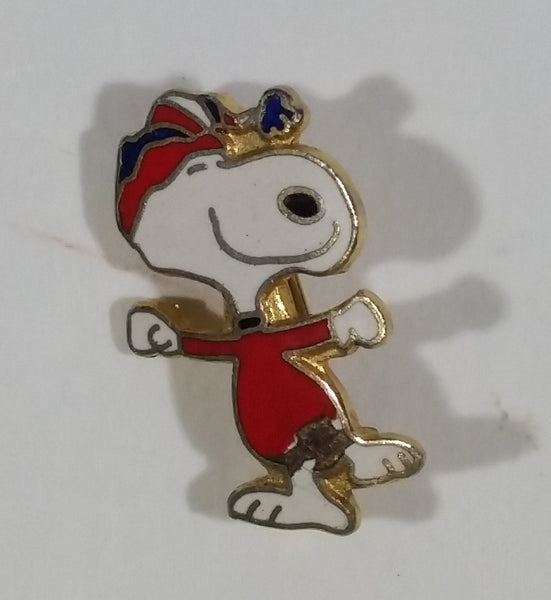 Vintage Peanuts Charlie Brown Snoopy Cartoon Character Ice Skating Enamel Pin Collectible - Treasure Valley Antiques & Collectibles
