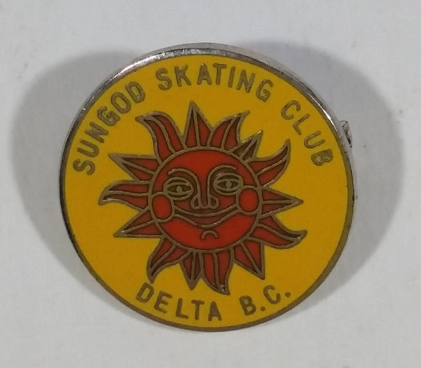 Sun God Skating Club Delta, B.C. Enamel Pin - Ice Skating, Speed Skating, Figure Skating Sports Collectible - Treasure Valley Antiques & Collectibles
