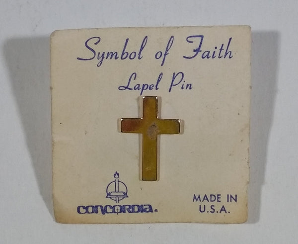 Concordia Symbol of Faith Lapel Pin Cross Crucifix Christianity Religion Collectible