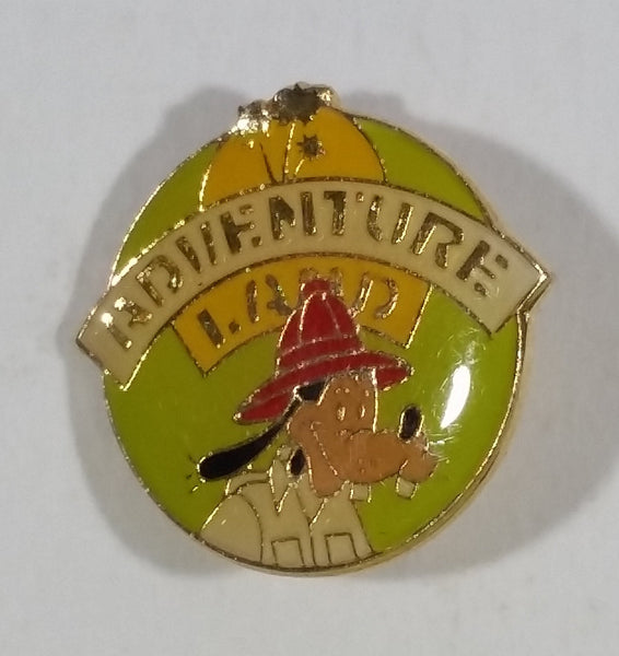 1985 Walt Disney Disneyland 30th Anniversary Adventure Land Fireman Goofy Cartoon Character Enamel Pin - Treasure Valley Antiques & Collectibles