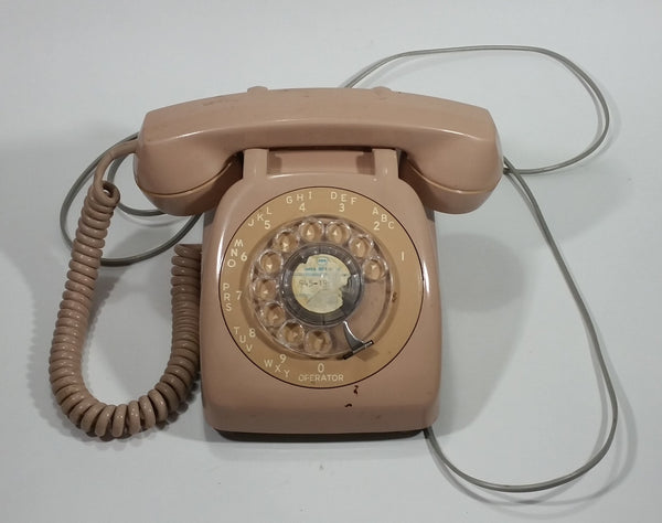 Vintage 1954-1975 GTE Automatic Electric Sand/Beige Model AE-80 Rotary Telephone - Working - Treasure Valley Antiques & Collectibles