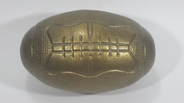 "Vintage Heavy Large 8"" Long Brass American Football Sculpture Sports Man Cave Collectible - Treasure Valley Antiques & Collectibles"