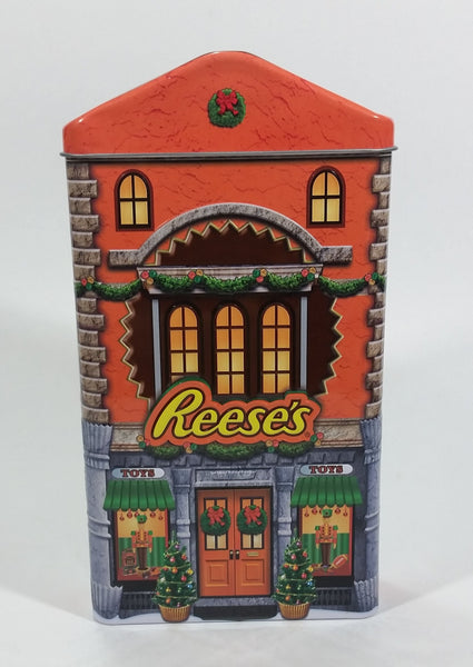 Collectible Reese's Peanut Butter Cups Reese's Pieces Orange Christmas Holiday Toy Store Themed Orange Chocolate Tin