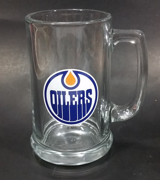 Collectible Edmonton Oilers Clear Glass Beer Mug HockeyRules ® Official NHL Product Ice Hockey Sports Collectible