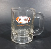 "Vintage A & W ""the difference is delicious"" Clear Glass 3 1/4"" Miniature Root Beer Mug - Treasure Valley Antiques & Collectibles"