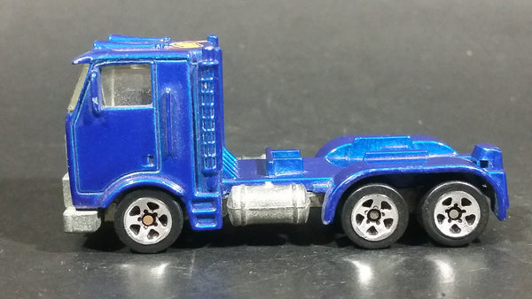 1997 Hot Wheels Race Team II Ramp Truck Semi Tractor Metalflake Blue Die Cast Toy Car Rig Vehicle - Treasure Valley Antiques & Collectibles