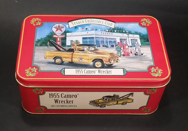 Texaco Collectors Club 1955 Cameo Wrecker Yellow Truck Die Cast Toy Car Vehicle Tin - Just the tin No Truck