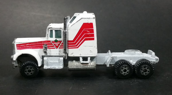 Rare Vintage Yatming Canadian Tire White and Red Semi Tractor Truck Die Cast Toy Car Rig Vehicle
