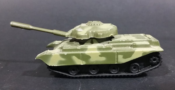 Unknown Brand Army Military Green Camouflage Tank Die Cast Toy Car Weaponry Vehicle with Rotating Turret - Treasure Valley Antiques & Collectibles