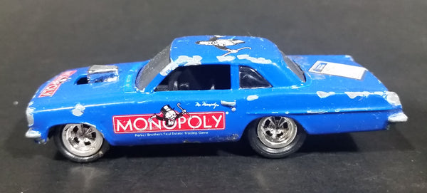 1996 Johnny Lightning Parker Brothers Real Estate Trading Game Monopoly Blue Die Cast Toy Car Vehicle - Treasure Valley Antiques & Collectibles