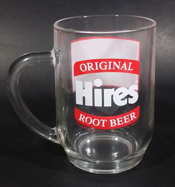 Vintage Hires Root Beers Soda Pop Beverage PNE Pacific National Exhibition Clear Large Round Glass Mug - Treasure Valley Antiques & Collectibles