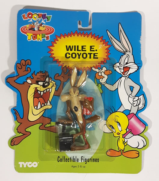 1994 Tyco Looney Tunes Wile E. Coyote Cartoon Character Bendable Figure Still Sealed In Package - Treasure Valley Antiques & Collectibles