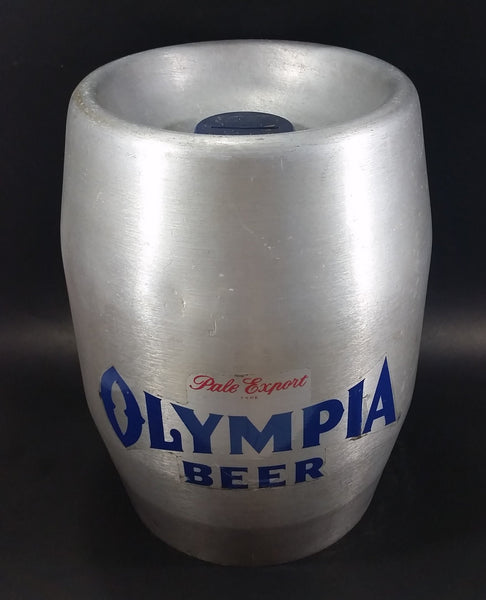 Rare Vintage Olympia Beer Pale Export Reynolds Aluminum Tapper Keg Coin Bank Breweriana Collectible