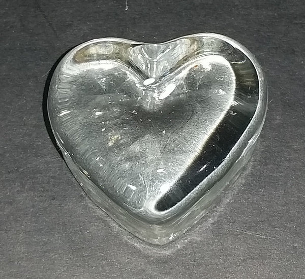 Small Clear Resin Heart Shaped Paper Weight