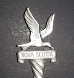 Vintage Nova Scotia Seagull Pewter Collectible Spoon - Treasure Valley Antiques & Collectibles