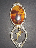 Vintage Keywest, Florida Dolphin Charm Sailboat w/ Sunset Collectible Spoon