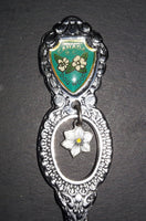 Vintage B.C. Canada Dogwood Flower Charm Collectible Spoon - Treasure Valley Antiques & Collectibles