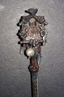 Vintage Beautiful Articulated Cuckoo Clock Collectible Spoon w/ Moving Parts! - Treasure Valley Antiques & Collectibles