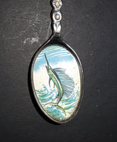 Vintage Florida Palm Trees Marlin Bowl Collectible Spoon - Treasure Valley Antiques & Collectibles