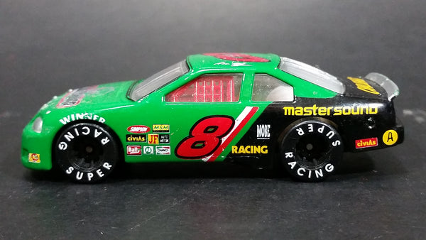 "Unknown Brand #8 Stock Car ""Super Racing"" ""Master Sound"" Green Die Cast Toy Race Car Vehicle - Treasure Valley Antiques & Collectibles"