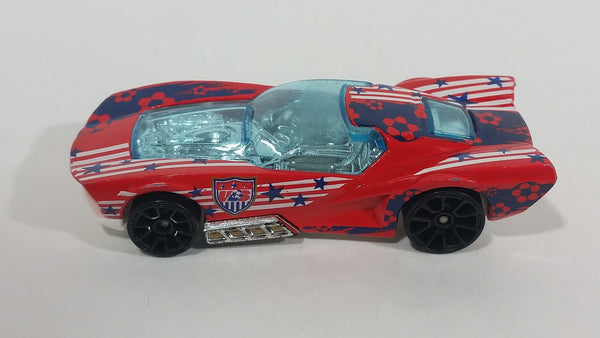 2014 Hot Wheels City HW Goal Hammerhead Street Shaker World Cup Soccer Football USA Red Die Cast Toy Car Vehicle T9719 - Treasure Valley Antiques & Collectibles