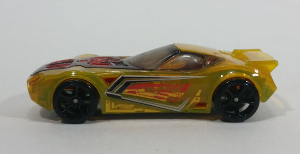 2014 Hot Wheels Race X-Raycers Nerve Hammer Transparent Yellow Die Cast Toy Car Vehicle