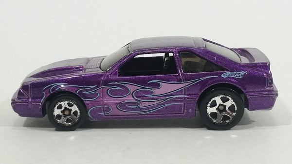 2009 Hot Wheels Mustang 45th Anniversary '92 Ford Mustang Dark Purple Die Cast Toy Car Vehicle