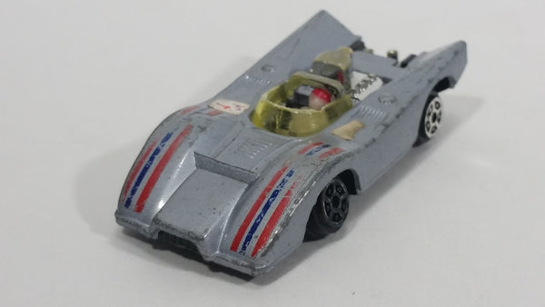 Vintage 1970s TinToys W.T. 702 X-51 Barracuda Silver Grey Die Cast Toy Race Car Vehicle - Hong Kong