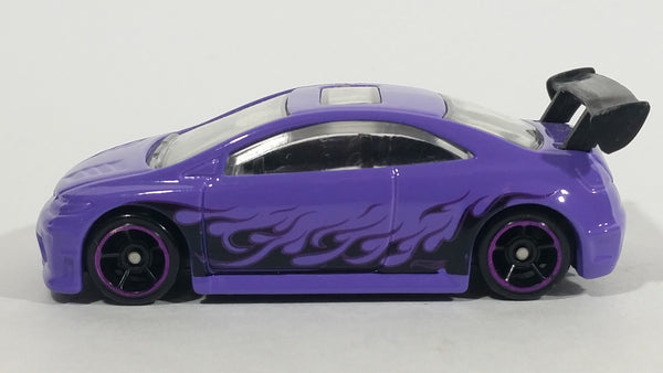 2015 Hot Wheels Police Pursuit 2006 Honda Civic SI Purple Die Cast Toy Car Vehicle