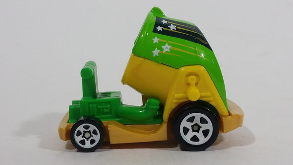 2017 Hot Wheels Ride-Ons Green and Yellow Die Cast Toy Car Vehicle