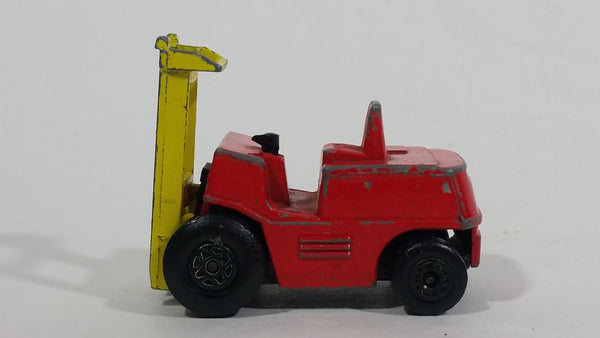 1972 Lesney Products Matchbox Red Yellow Superfast No. 15 Fork Lift Truck Toy Car Warehouse Yard Machinery Vehicle - Treasure Valley Antiques & Collectibles