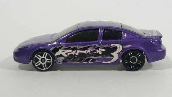 VHTF 2003 Hot Wheels Raptor Blast Saturn Ion Quad Coupe Purple Die Cast Toy Car