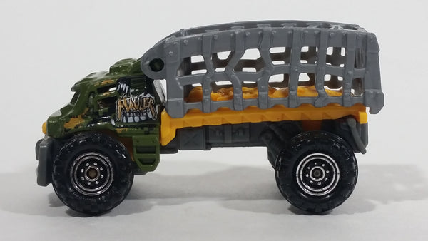 2015 Matchbox MBX Explorers Mauler Hauler Truck Army Green Die Cast Toy Car Vehicle