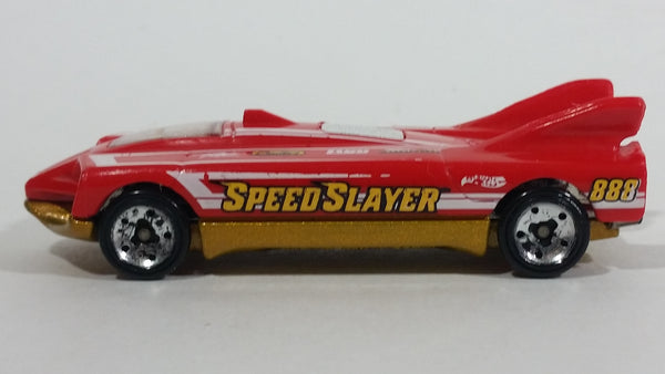 2015 Hot Wheels Race Track Aces Speed Slayer Red Die Cast Toy Car Vehicle